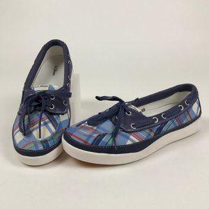 NWOT L.L. Bean Boat Shoes Plaid Women's Size 10M